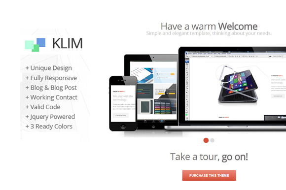 Klim One Page Template
