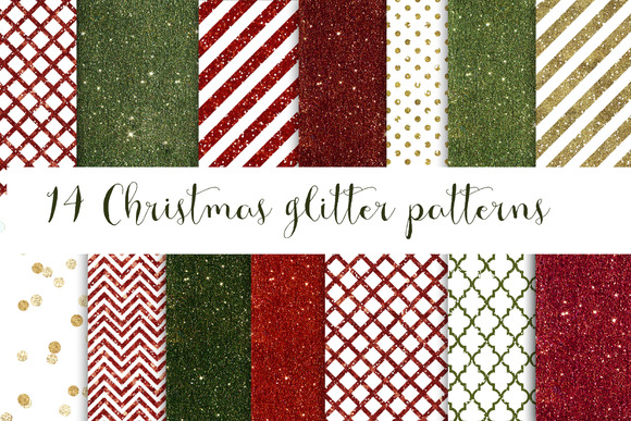 14 Christmas Glitter Patterns
