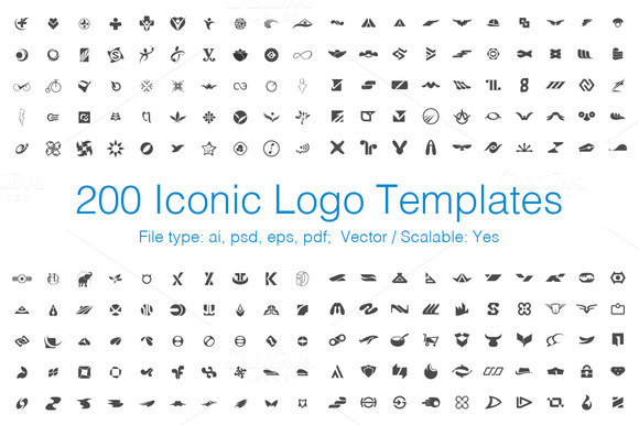 200 Vector Iconic Logo Templates