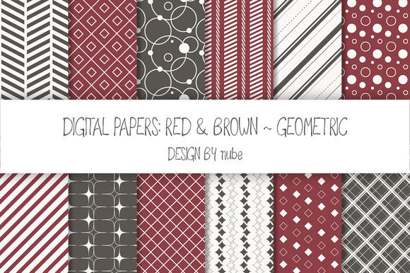 Geometric Seamless Patterns Red