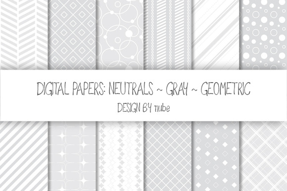 Geometric Seamless Patterns Gray