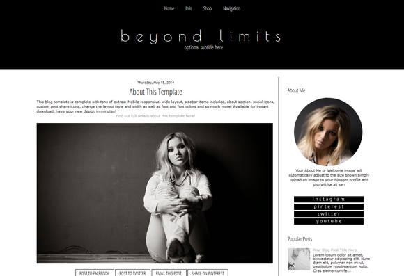 Blogger Template Black And White