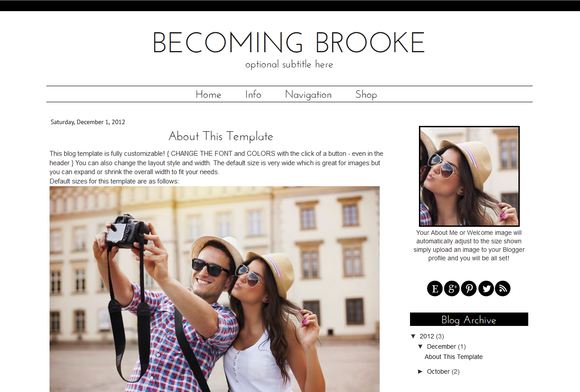 Blogger Template Modern Brooke
