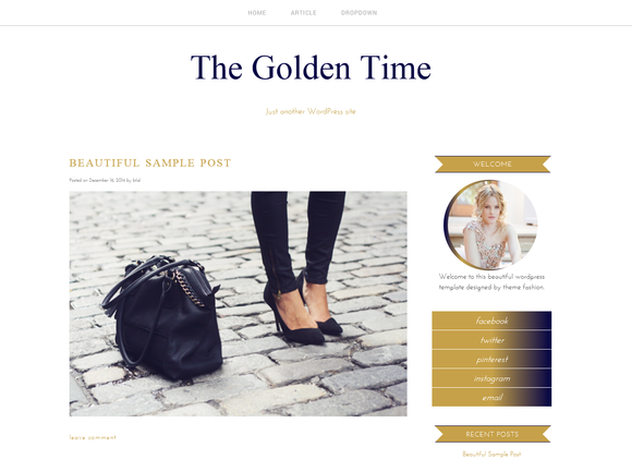WordPress Theme The Golden Time