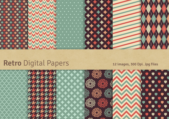 Retro Digital Papers