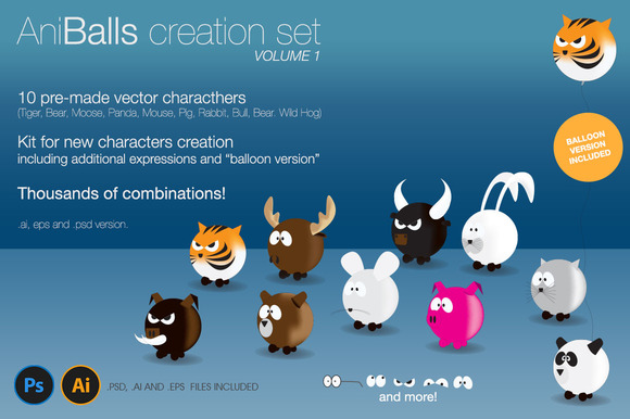 AniBalls Character Creation Set
