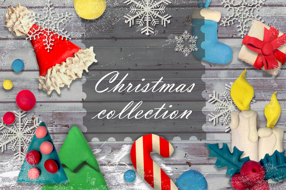Plasticine Christmas Collection