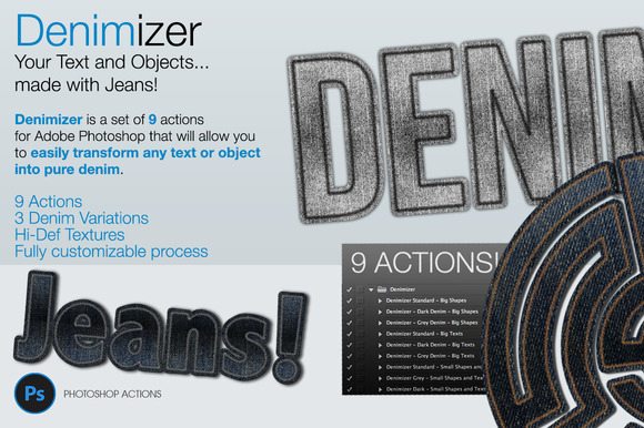 Denimizer Text And Object In Jeans