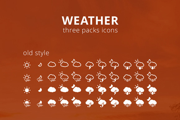 Three Weather Icons Sets