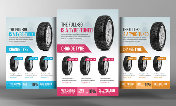 Tyre Shop Flyer Template