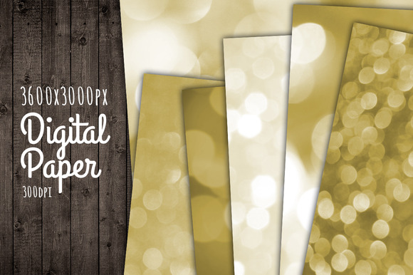 Gold Bokeh Paper Background Texture