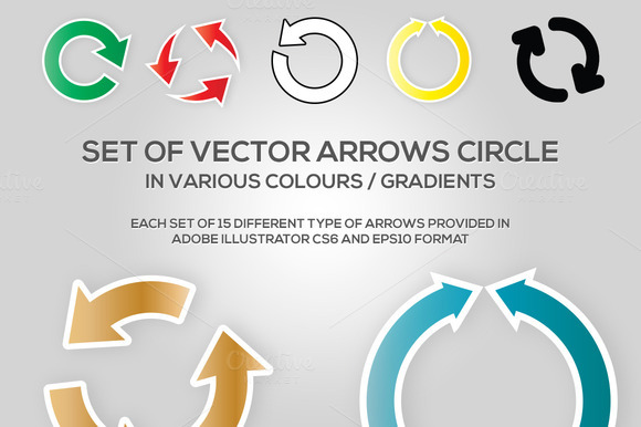 Set Of Vector Arrow Circle