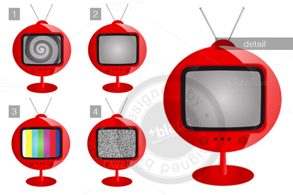 Rounded Retro Tv