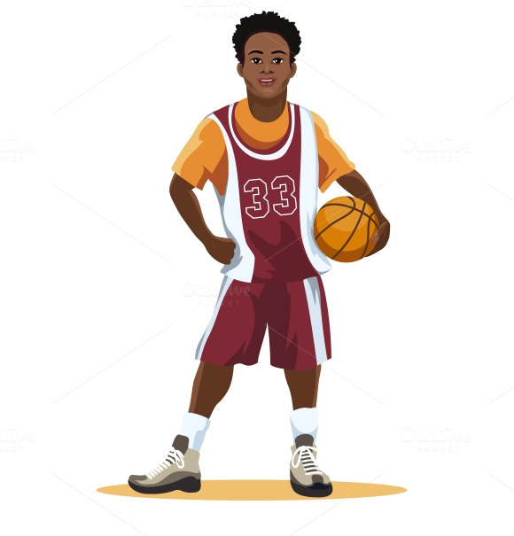 Basketball Player In Uniform