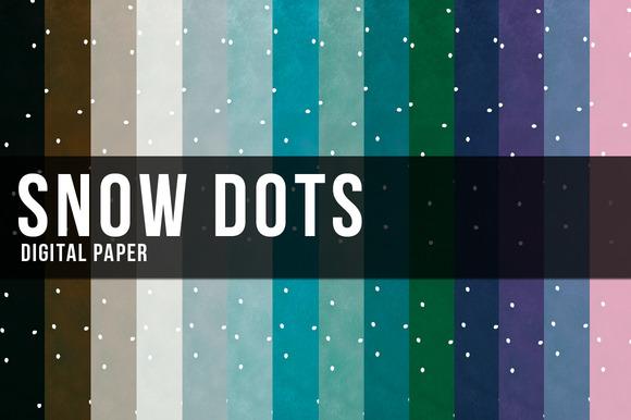 Snow Dots Digital Paper