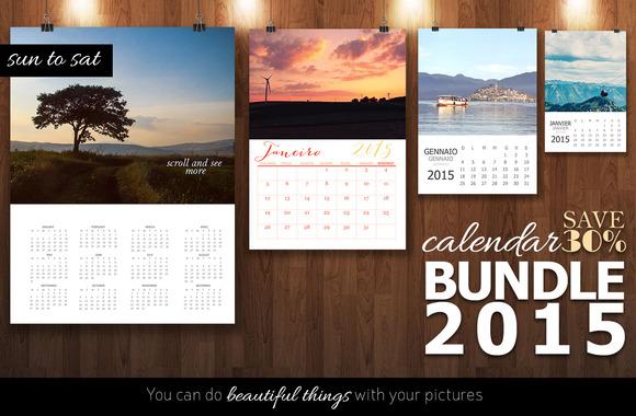 Bundle Calendar 2015 Sun To Sat