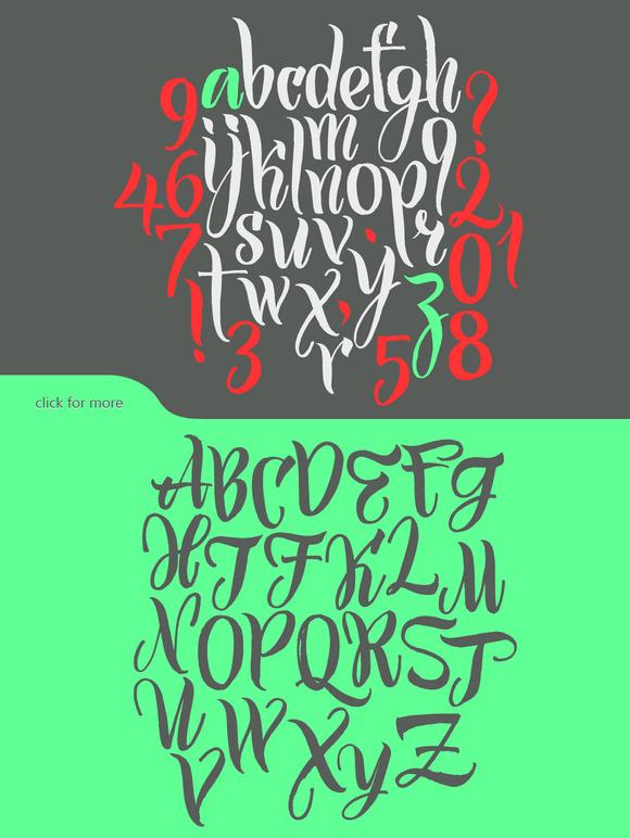 Calligraphic Typeface