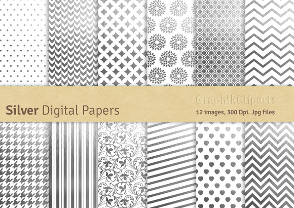 Silver Digital Papers