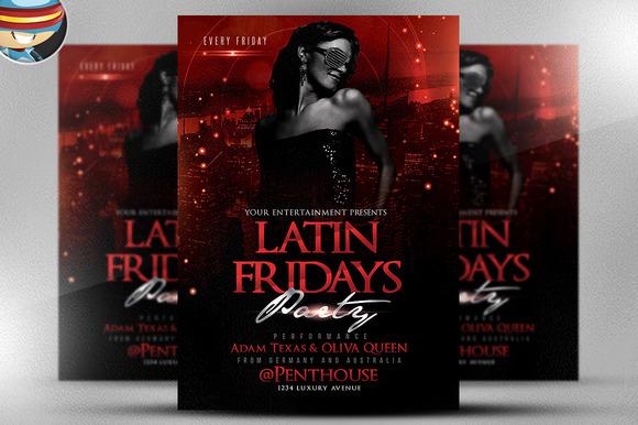 Latin Fridays Flyer Template 2