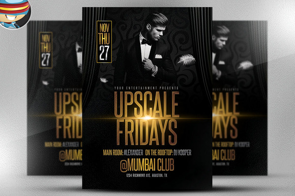 Upscale Fridays Flyer Template