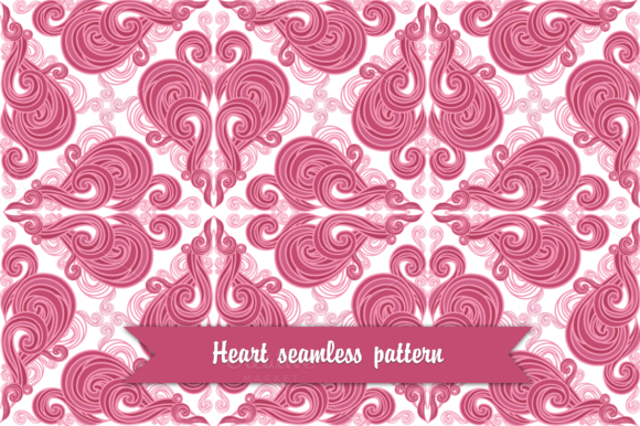 Vintage Heart Seamless Pattern