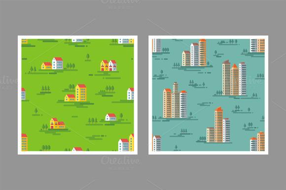 Cityscapes Seamless Pattern
