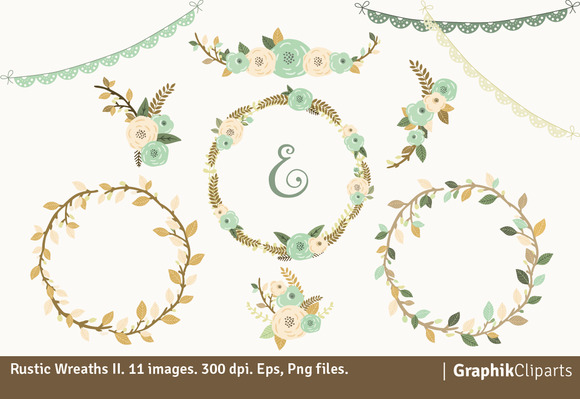 Rustic Wreaths II