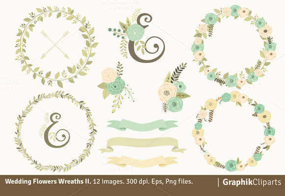 Wedding Flowers Wreaths II