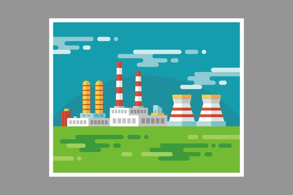 Industrial Factory Illustration