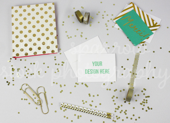Styled Desktop Greeting Card Mock Up