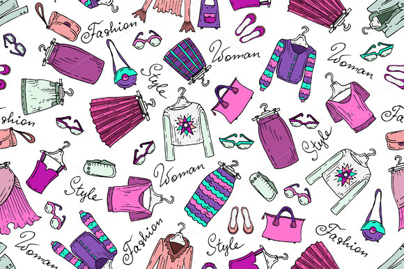 Pattern With Skirts And Blouses