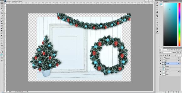 Christmas Decoration Mockup PSD