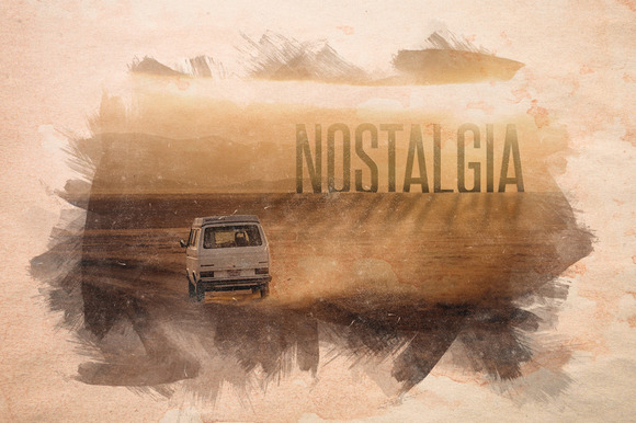 Nostalgia Old Watercolor Overlays