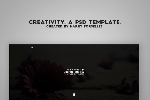 Creativity A PSD Template