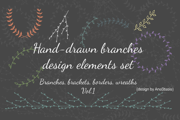 Hand-drawn Branches Set