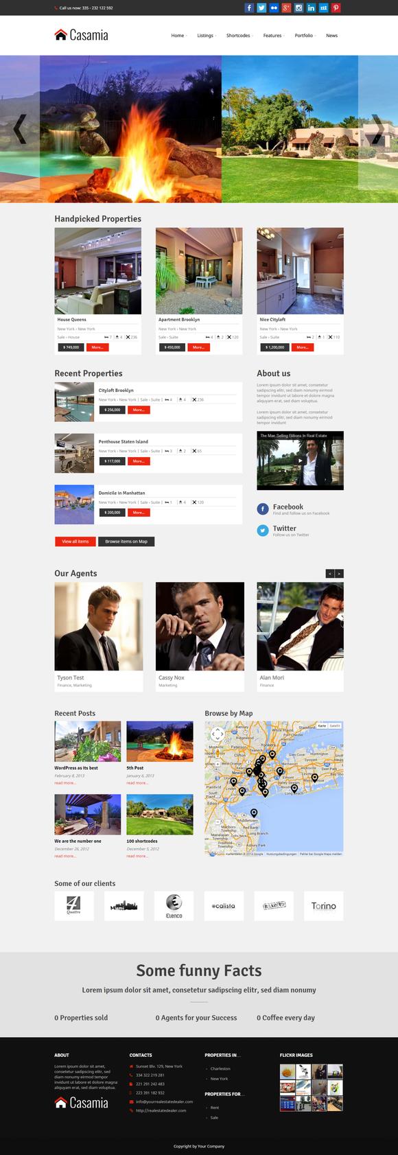 Casamia Real Estate WordPress
