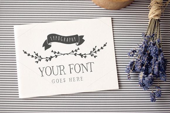 Typography Logo Invitation