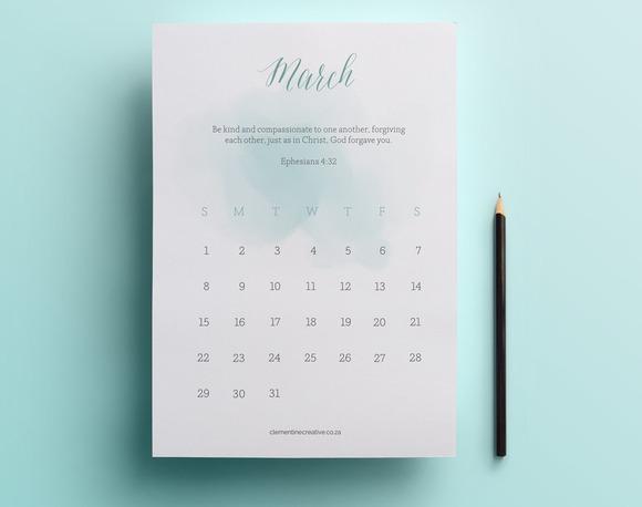 Printable 2015 Calendar Scripture