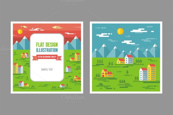 Landscape Cityscape Illustrations