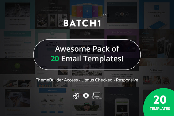 Batch1 20 Responsive Emails Bundle