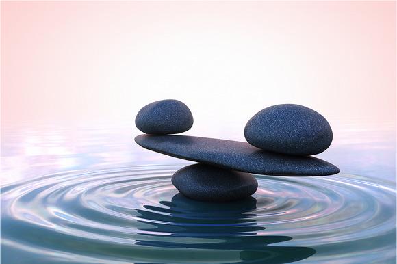 Zen Stones Sunrise