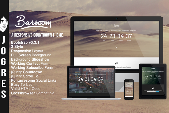 Barsoom Responsive Countdow Theme