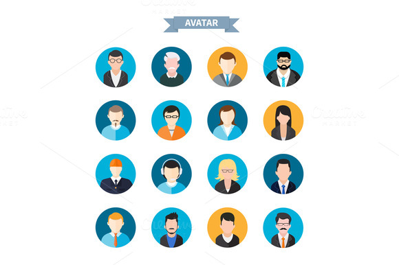 Set Of Stylish Avatars