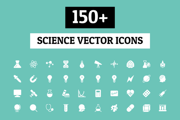 150 Science Vector Icons