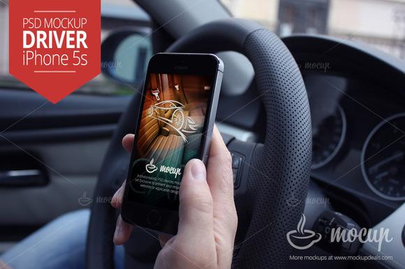 Mockup IPhone 5s Driver