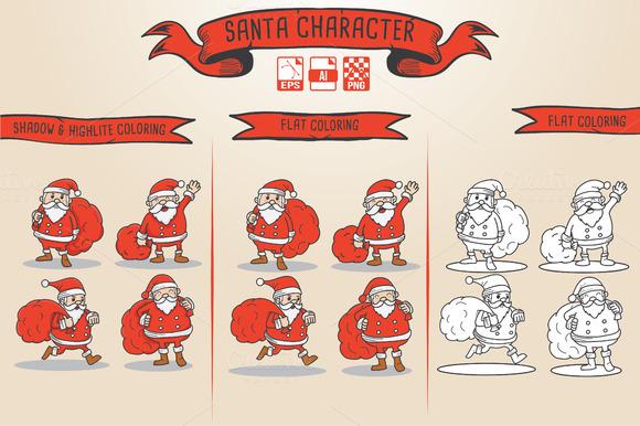 4 Santa Character
