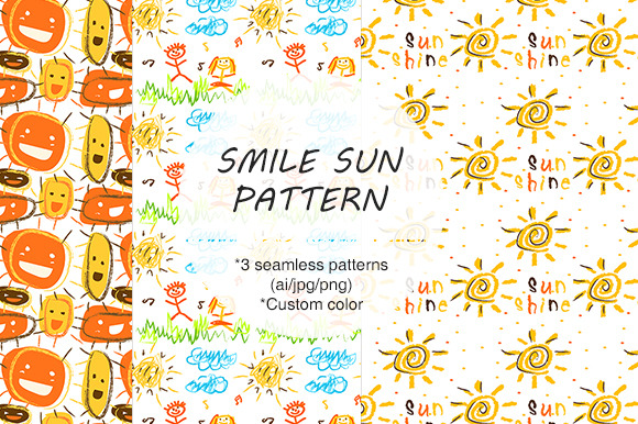 ORIGINAL SMILE SUN SEAMLESS PATTERN