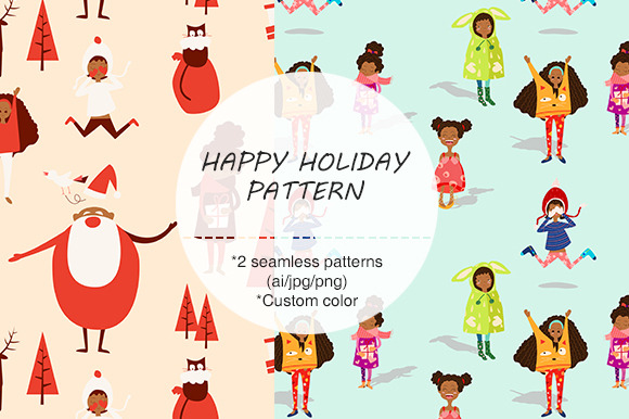 HOLIDAY THEME SEAMLESS PATTERN