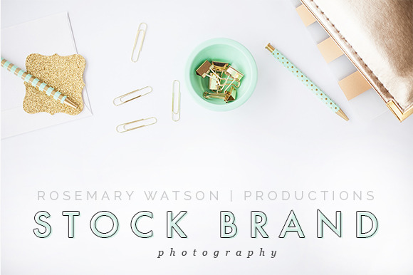 Styled Stock Photography Mint Gold