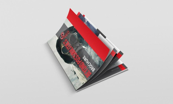 Red InDesign Brochure For Business